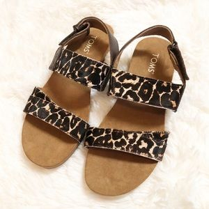 TOMS Leopard Sandals - Like New!!